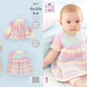 King Cole 5511 Easy baby Knitting Pattern