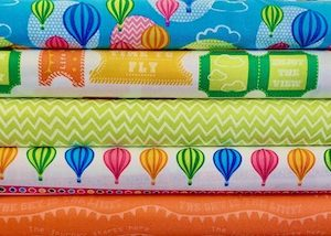100% Cotton Balloons and Rainbow Fabric by Stuart Hilliard