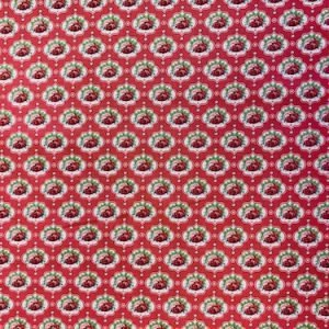 Coral Roses 100% Cotton fabric