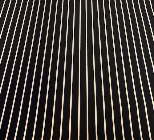 Navy and White Butchers Stripe 100% Cotton Duck