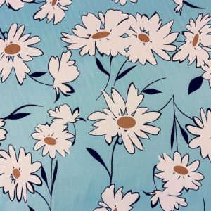 Daisy Sateen Stretch Cotton Fabric