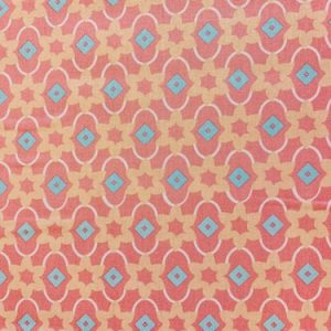 100% Cotton Fabric Classic Tile Collection Coral