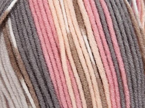 James C Brett Fairground DK yarn G3 beige and Coral