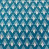 Stretch Cotton Fabric Geometric Diamond Print