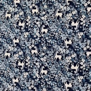 Viscose Print Navy Unicorns