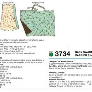 Kwik Sew Swaddler, Sling Carrier & Nursing Cover Pattern K3734