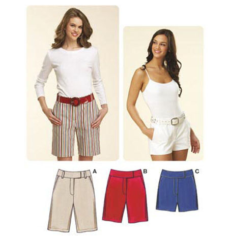 Kwik Sew Ladies Fitted Shorts Pattern K3614