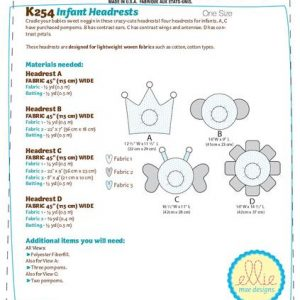 Kwik Sew Infant Headrest Pattern K0254