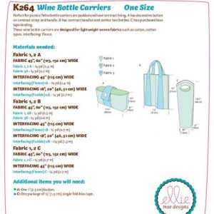 Kwik Sew Wine Bottle Carriers Pattern K0264