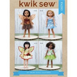 "Kwik Sew Fairy Doll Clothes 14"" K4280"
