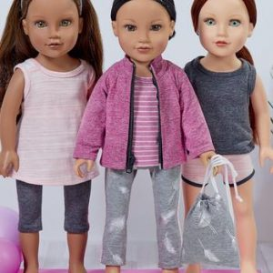 "Kwik Sew Athleisure Doll Clothes 18"" K4297"