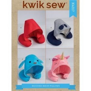 Kwik Sew Adults' & Kids' Hooded Travel Neck Pillows Pattern K4317