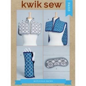 Kwik Sew Hot Or Cold Shoulder Wrap, Mask & Wrist Wrap Pattern K4318