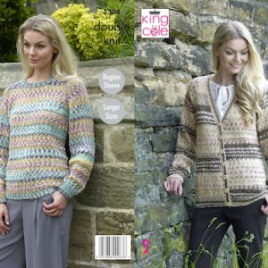 King Cole 5304 Ladies DK Cardigan and Jumper Knitting Pattern