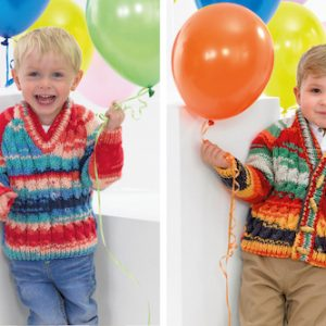 Children's Cardigan and Sweater Partytime Chunky Pattern JB381