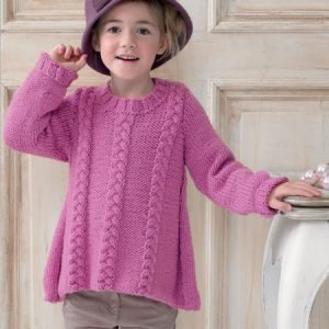 Children's Chunky Cable Jumper Pattern JB152